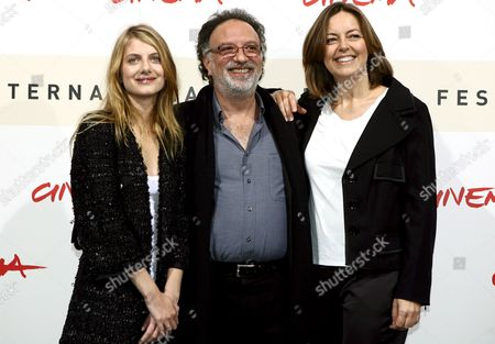 Film Director Alessandro Capone (c) with Actresses Melanie Laurent (l) and Greta Scacchi Present the Film 'L'amour Cach?' at the Rome Film Festival on 20 October 2007 in Rome Italy Italy Rome