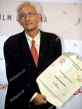 Stock Image of Portugese Director Joao Botelho Wins the Honorable Mention with His Film 'A Corte Do Norte' (us Title: the Northern Land) at the 3rd Rome International Film Festival at Auditorium Music Park in Rome on 31 October 2008 Italy Rome