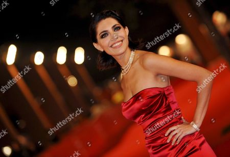 Actress Caterina Murino Poses on the Red Carpet at Rome's Park of the Music Auditorium For the Screening of the Film 'The Garden of Eden' Directed by John Irvin Late 26 October 2008 at the 3rd Rome International Film Festival Italy Rome