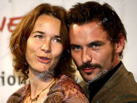 French Actress Anne Coesens (l) and French Actor Sagamore Stevenin Pose For Photographers on Wednesday 18 October 2006 at the First Edition of Rome International Film Festival where They Presented the Film 'Cages' Directed by Olivier Masset-depasse Italy Rome