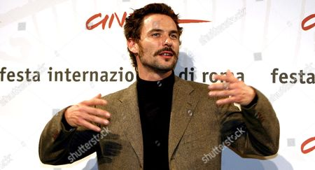 Stock Image of French Actor Sagamore Stevenin Poses For Photographers on Wednesday 18 October 2006 at the First Edition of Rome International Film Festival where He Presented 'Cages' Directed by Olivier Masset-depasse Italy Rome