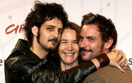 (l-r) French Director Olivier Masset-depasse French Actress Anne Coesens and French Actor Sagamore Stevenin Pose For Photographers on Wednesday 18 October 2006 at the First Edition of Rome International Film Festival where They Presented the Film 'Cages' Italy Rome