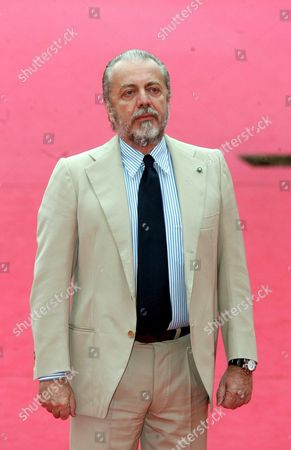 Italian Producer Aurelio De Laurentis on the Red Carpet Prior the Screening of the Film 'Nos Jours Hereux' at the Rome International Film Festival at Auditorium 'Parco Della Musica' in Rome Italy on Thursday 19 October 2006 Italy Rome