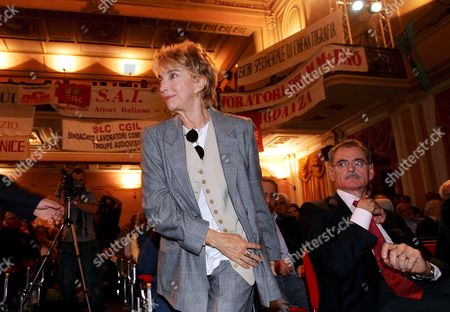 Italian Actress Mariangela Melato Wellknow All Over the World For Lina Wertmuller's Successfully Film 'Swept Away by an Unusual Destiny in the Blue Sea of August' (1974) Attends a National Rally of Italian Artists in Capranica Cinema in Downtown Rome Just in Front of Montecitorio Palace Seat of Italian Chamber of Deputies on Friday 14 October 2005 Italy's Arts Industry Shut Down on Friday in Protest Against Government Plans to Hit the Culture Budget with Cuts That Could Bring an End to the Venice Film Festival Italy's Draft 2006 Budget Approved by the Cabinet Last Month Includes Plans For a More Than 30 Percent Cut to a Fund Which Makes Key Contributions to Projects From Local Circuses Toitalian Films Or Venice's Recently Restored Fenice Opera House Prime Minister Silvio Berlusconi's Government Ordered The160 Million Euro ($191 7 Million) Cut to the Central Arts Fund As Part of a Package of Deficit-busting Measures Italy Rome