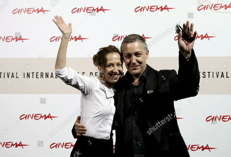 Candaina Film Director Ingrid Veninger (l) and British Actor Simon Reynolds During the Photo Call of the Film 'Only' by Veninger at the 3rd International Film Festival in Rome Italy 27 October 2008 Italy Rome