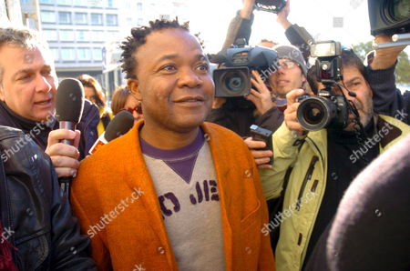 Congolese Musician Patrick Lumumba Diya Arrives at Perugia's Tribunal in Perugia Umbria Northern Italy 04 December 2007 to Be Questioned by Public Prosecutor Giuliano Mignini on the Murder of British Student Meredith Kercher Italy Perugia