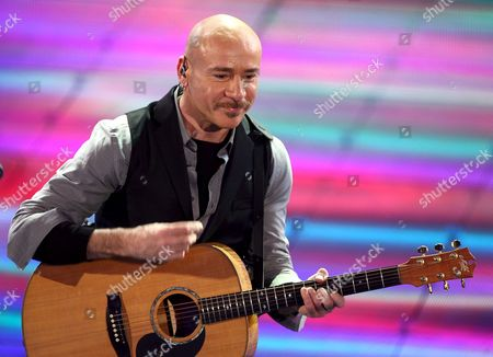 Stock Image of Singer Mario Venuti Performs During the Second Evening of the 58th Italian Song Festival in the Ariston Theatre in Sanremo Italy 26 February 2008 the Festival is a Popular Italian Song Contest Running Since 1951 and Held Annually in the City of Sanremo Italy Sanremo