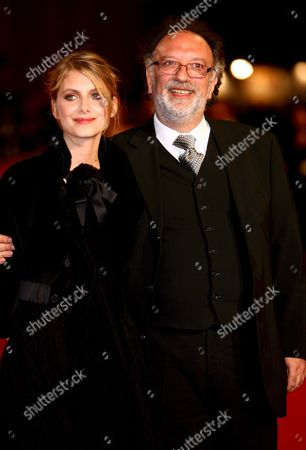 Italian Director Alessandro Capone and French Actress Melanie Laurent (l) Pose For a Photo on the Red Carpet Prior to the Screening of Capone's Film 'L'amour Cache' at the Rome Film Festival in Rome Italy 20 October 2007 the Festival Runs Until 27 October 2007 Italy Rome