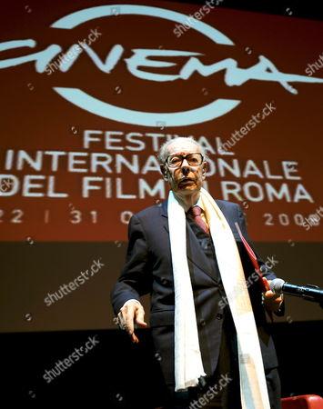Gian Luigi Rondi President of the Rome Film Festival Adresses the Media During the Final Press Conference of the 3rd Rome Film Festival 31 October 2008 in Rome Italy the Festival Runs Until 31 October 2008 Italy Rome