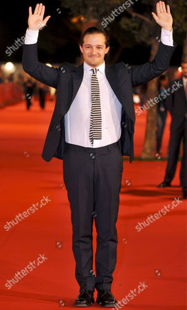 Film Director Brando De Sica Gestures on the Ed Carpet Upon His Arrival to Present His Film 'Parlami Di Me (tell Me About Me)' at the 3rd Rome Film Festival Italy 24 October 2008 Italy Roma