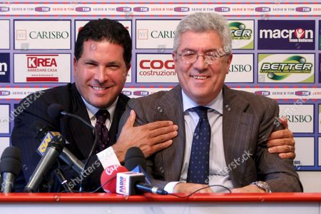 New York Criminal Defence Lawyer Joe Tacopina (l) Talks During His Press Conference with Italian Soccer Team Fc Bologna President Alfredo Cazzola (r) in Galli Di Casteldebole Bologna Italy on 16 June 2008 According to a Statement on the Italian Serie a Soccer Club's Website a Us Company Has Signed an Agreement to Take Over Bologna Alfredo Cazzola Would Stay on As President the Statement Said Italy Bologna