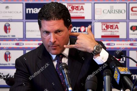 New York Criminal Defence Lawyer Joe Tacopina Talks During His Press Conference with Italian Soccer Team Fc Bologna President Alfredo Cazzola (unseen) in Galli Di Casteldebole Bologna Italy on 16 June 2008 According to a Statement on the Italian Serie a Soccer Club's Website a Us Company Has Signed an Agreement to Take Over Bologna Alfredo Cazzola Would Stay on As President the Statement Said Italy Bologna