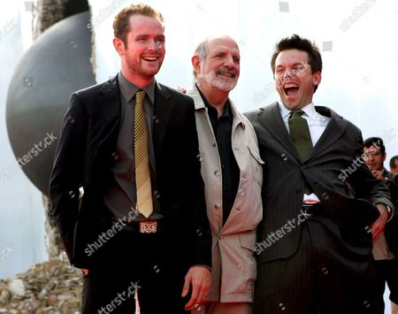 Us Film Director Brian De Palma (c) Poses For a Photo with Actors Robert Devaney (r) and Patrick Carroll (l) Prior to the Screening of the Film 'Redacted' For the Venice Film Festival in Venice Italy 31 August 2007 Italy Venice