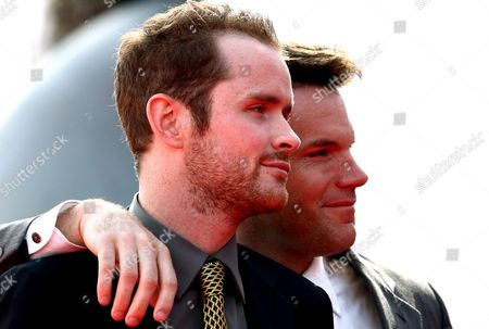 Actors Robert Devaney (r) and Patrick Carroll Pose Prior to the Screening of the Film 'Redacted' For the Venice Film Festival in Venice Italy 31 August 2007 Italy Venice