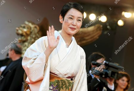Japanese Actress Kanako Higuchi Poses For a Photo on the Red Carpet Prior the Screening of the Film 'Achilles and the Tortoise' For the 65th Venice International Film Festival Organised by the Venice Biennale 28 August 2008 in Venice Italy Italy Venice