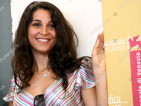 Italian Actress Donatella Finocchiaro Poses For a Photo at the End of the Press Conference to Promote the Movie ''don't Take Any Date For Tonight' by Director Gianluca Maria Tavarelli at the Venice Film Festival Monday 04 September 2006 Italy Venice