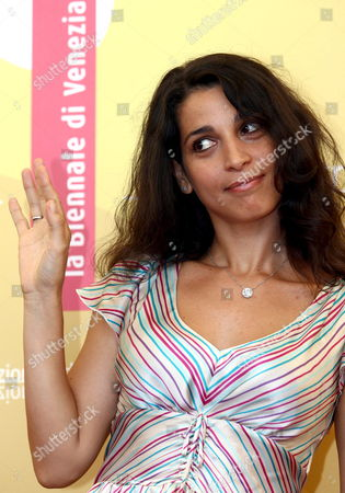 Italian Actress Donatella Finocchiaro Poses For Photographers at the End of the Press Conference to Promote the Movie ''don't Take Any Date For Tonight' by Director Gianluca Maria Tavarelli at the Venice Film Festival Monday 04 September 2006 Italy Venice