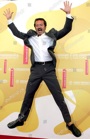 Italian Actor Rocco Papaleo Poses For a Photo at the End of the Press Conference to Promote the Movie ''don't Take Any Date For Tonight' by Director Gianluca Maria Tavarelli at the Venice Film Festival Monday 04 September 2006 Italy Venice