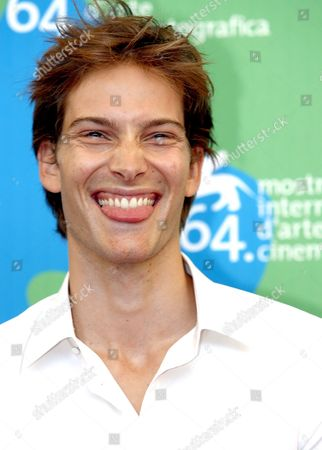 Stock Image of French Actor Andy Gillet Poses on the Red Carpet in Ocasion of the Presentation of the Movie 'Romance of Astrea and Celadon' at the Venice Film Festival in Venice Italy 01 September 2007 Italy Venice