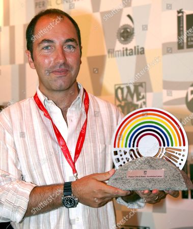 Stock Image of Italian Director Marco Pontecorvo Poses For Photographers After Being Awarded with the 'Arcobaleno Latino' For His Film 'Pa-ra-da' Running in the 'Orizzonti' Section of the 65th International Film Festival of Venice 04 September 2008 in Venice Italy the Festival is Scheduled For 27 August to 06 September 2008 Italy Venice