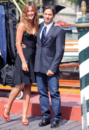 Piersilvio Berlusconi Son of Italian Prime Minister Silvio Berlusconi and Vice-president of Mediaset Poses For Photographers with His Girlfriend Silvia Toffanin at the Lido of Venice Italy 02 September 2009 the 66th Venice Film Festival Runs From 02 to 12 September Italy Venice