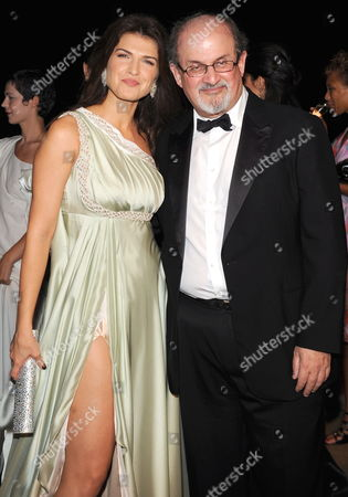 Romanian Actress/cast Member Monica Birladeanu Poses with British-indian Writer Salman Rushdie at the Premiere of 'Francesca' During the 66th Venice Film Festival in Venice Italy 03 September 2009 the Movie by Director Bobby Paunescu is Presented in the Orizzonti Section of the Festival Running From 02 to 12 September Italy Venice