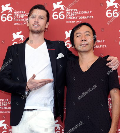 Actor/cast Member Eric Bossick (l) and Movie Director Shinya Tsukamoto Pose For Photographers During the Photocall For 'Tetsuo: the Bullet Man' During the 66th Venice Film Festival in Venice Italy 05 September 2009 the Film is Presented in Competition at the Festival Running Until 12 September Italy Venice