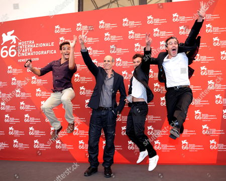 Stock Photo of Israeli Director Samuel Maoz (2-l) Poses with Cast Members and Actors (l-r) Yoav Donat Michael Moshonov Zohar Shtrauss During a Photocall For the Film 'Lebanon' During the 66th Venice Film Festival in Venice Italy 08 September 2009 the Movie by Maoz is Presented in the Official Competition at the Festival Running From 02 to 12 September Italy Venice