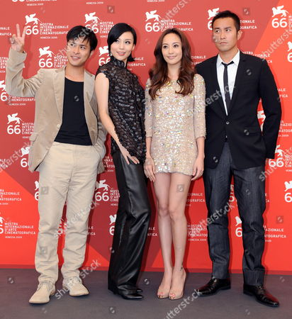 Actors/cast Members (l-r) Fan Chih-wei Xuan Zhu Terri Kwan and Joseph Chang Pose For Photographers at a Photocall For Their Film 'Lei Wangzi (prince of Tears)' During the 66th Venice Film Festival in Venice Italy 04 September 2009 the Movie by Chinese Director Yonfan is Presented in Competition at the Festival Running From 02 to 12 September Italy Venice