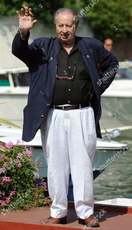 Italian Movie Director Tinto Brass Arrives at the Wet Dock of Lido Di Venezia Venice Italy on 10 September 2009 During the 66th Venice Film Festival the Festival Will Run Until 12 September Italy Venice