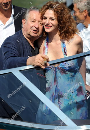 Italian Movie Director Tinto Brass (l) and Actress Caterina Varzi Arrive at the Wet Dock of Lido Di Venezia Venice Italy on 10 September 2009 During the 66th Venice Film Festival the Festival Will Run Until 12 September Italy Venice