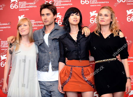 (l-r) Cast Members Canadian Actress Sarah Polley Us Actor Jared Leto Vietnamese Actress Linh-dan Pham and German Actress Diane Kruger Pose During a Photocall For the Film 'Mr Nobody' During the 66th Venice Film Festival in Venice Italy 11 September 2009 the Movie is Presented in the Official Competition at the Festival Running From 02 to 12 September Italy Venice