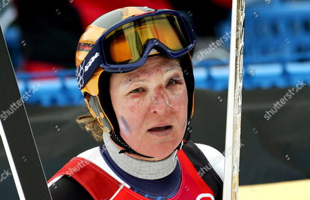 France's Carole Montillet-carles After the Women's Downhill Race at the Turin 2006 Winter Olympic Games in San Sicario Italy Wednesday 15 February 2006 Italy San Sicario