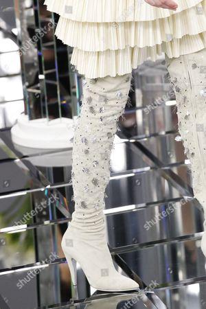 Stock Picture of Ala Sekula on the catwalk, shoe detail