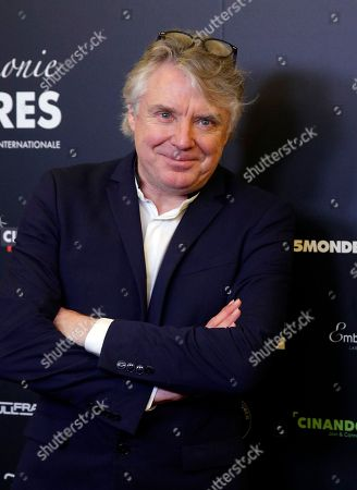 French musician Didier Lockwood poses during a photocall prior to the 22st Lumieres awards ceremony in Paris, France