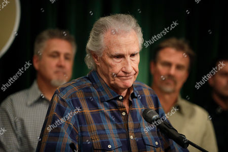Righteous Brothers singer Bill Medley pauses for a moment while answering questions from the media during a news conference, in Los Angeles. Officials say the man who raped and killed the ex-wife of Medley in 1976 was shot and killed by police more than three decades ago