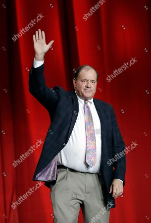 Chris Berman is introduced during opening night for the NFL Super Bowl 51 football game at Minute Maid Park, in Houston