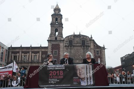 Andres Manuel Lopez Obrador, Pedro Miguel and Laura Esquivel