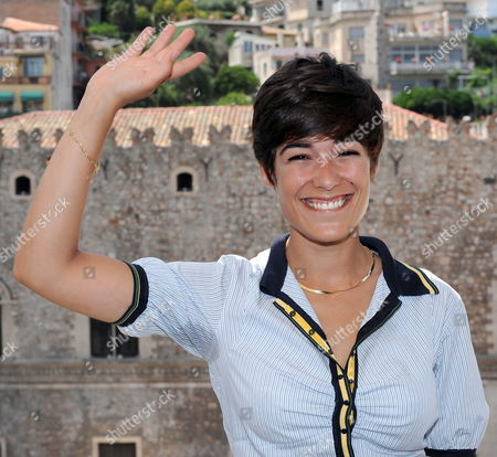 French Actress Diane Fleri Poses For a Photo After the 'Campus Taormina' with Students in Taormina on Island Sicily Southern Italy 16 June 2010 the 56th Edition of the Taormina Film Festival is Held From 12 Until 18 June 2010 Italy Taormina