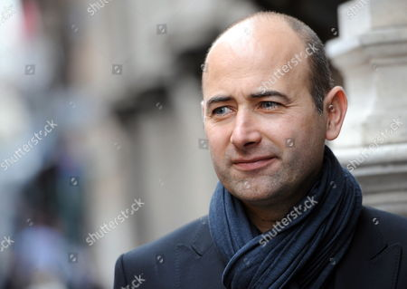 Stock Picture of French Director Laurent Tirard Poses For Photographs After a Press Conference to Promote His Movie 'Le Petit Nicolas' (english Title: Little Nicholas) in Rome Italy 22 March 2010 Italy Rome