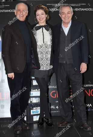 (l-r) Italian Actors and Cast Members Toni Servillo Sarah Felberbaum and Remo Girone Pose During a Photocall For the Movie 'Il Gioiellino' (the Gem) in Rome Italy 01 March 2011 the Movie by Italian Director Andrea Molaioli Will Premiere in Italy on 04 March 2011 Italy Rome