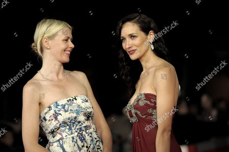 Stock Picture of Actresses of 'The Afterlight' Ana Asensio (r) and Jicky Schnee Pose on the Red Carpet During the Fourth Edition of International Film Festival Rome Italy 18 October 2009 Italy Rome