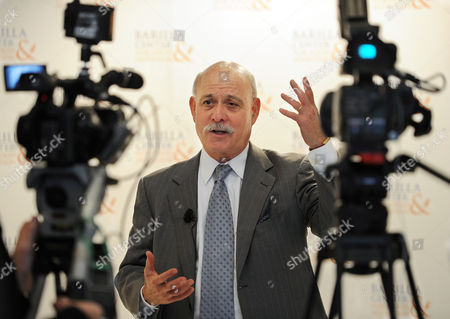 Jeremy Rifkin the President of Washington's Foundation on Economic Trends Responds to Questions From Journalists 01 December 2010 at the Second Barilla Center For Food Nutrition International Forum in Milan the Forum is a Think Tank and Change Vehicle That Serves to Gather and Analyze the Best Knowledge From All Over the World on the Topics of Diet and Nutrition in Relation to People the Environment Science and the Economy and Present Solutions to Help Deal with the Food Challenges of the Near Future Italy Milan