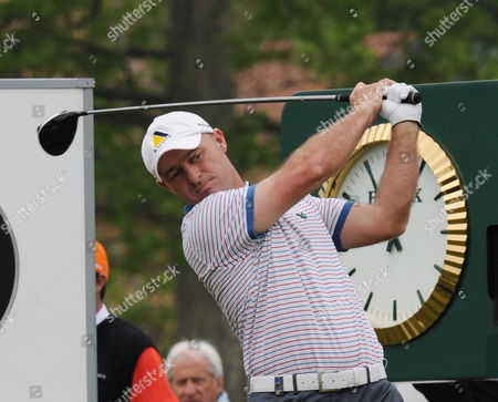 English Robert Coles Plays a Tee Shot During the Third Round of the Bmw Italian Open Golf Tournament in Turin Italy on 08 May 2010 Italy Turin