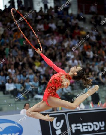 Spanish Almudena Cid Performs During the 24th Rhytmics Gymnastics European Championships in Turin Italy on 06 June 2008 Italy Turin