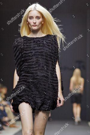 Dutch Topmodel Iekeliene Stange Takes to the Catwalk During the Kristina Ti Fashion Show at the Milan Fashion Week Spring/summer 2010 in Milan Italy 28 September 2009 the 'Milano Moda Donna' Event Runs Until 30 September Italy Milan