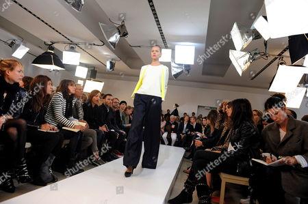 Danish Model Freja Beha Presents a Creation by Belgian Designer Raf Simons For Jil Sander During the Milan Fashion Week Spring/summer 2011 in Milan Italy 25 September 2010 the Milano Moda Donna Fashion Week Runs From 22 to 28 September Italy Milan
