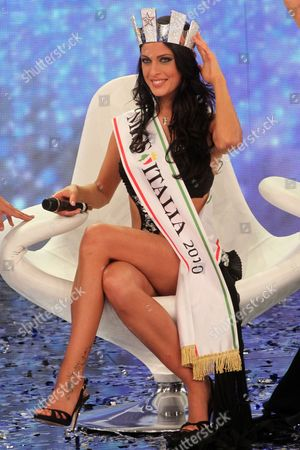 Francesca Testasecca Has Been Elected New Miss Italia 2010 During the Final Evening of Miss Italia Beauty Show in Salsomaggiore Terme Italy on 13 September 2010 Italy Salsomaggiore