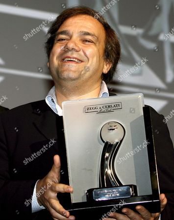 French Film Director and Actor Didier Bourdon Holds the Prize For 'Best Film' For the Film 'Madame Irma' at the Vi Edition of Monte Carlo Film Festival on Saturday 02 December 2006 at the Grimaldi Forum in Monte Carlo Monaco Monte Carlo
