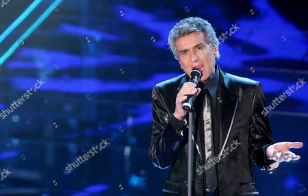 Italian Singer Toto Cutugno Performs During the Final Evening of the 58th Edition of the Italian Song Festival at the Ariston Theatre in Sanremo Italy 01 March 2008 Italy Sanremo (imperia)